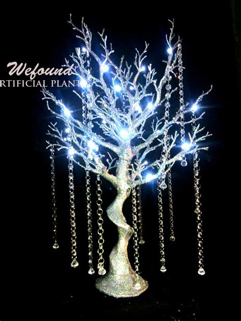 light up trees for weddings 30 quot white led manzanita tree wedding table centerpiece