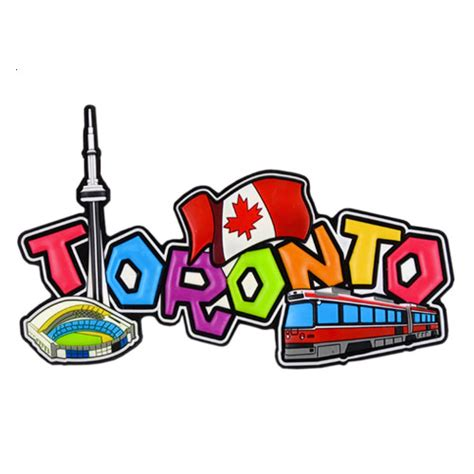 toronto rubber st canada souvenirs gifts toronto rubber script magnet