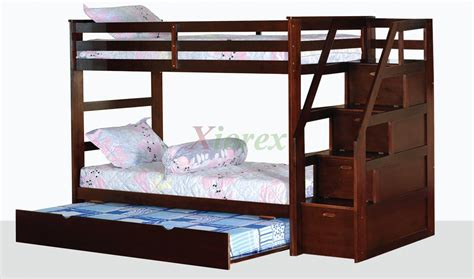 bunk beds with stairs and trundle alcor bunk bed with storage stairs and