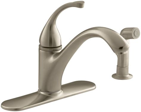 kohler single handle kitchen faucet kohler k 10412 bv brushed bronze single handle kitchen