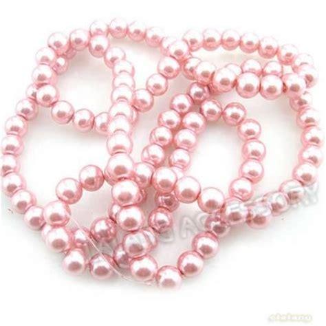 bulk faux pearl 3 string lot wholesale fashion pink glass faux pearl