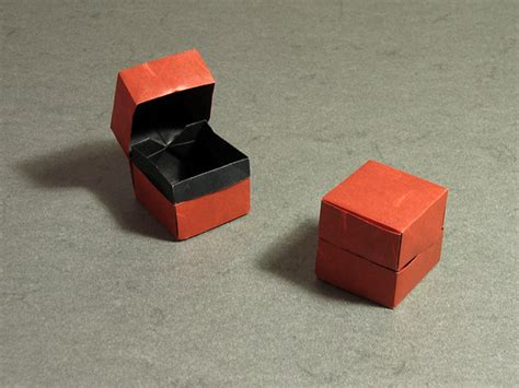 small origami box with lid origami central box and lid by david brill