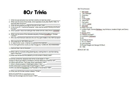 trivia questions 90s trivia questions and answers printable autos post