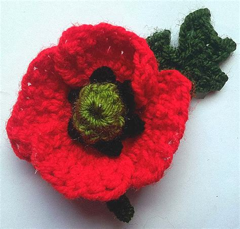 how to knit a poppy flower thredhed remembering crochet poppy