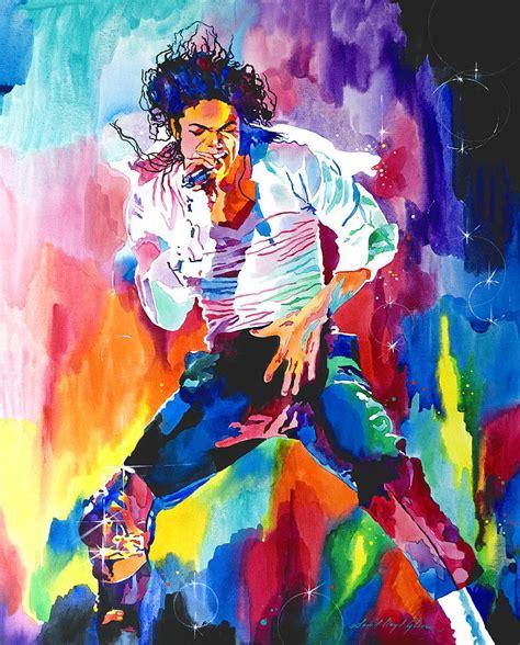 acrylic paint jackson michael jackson wind by david lloyd