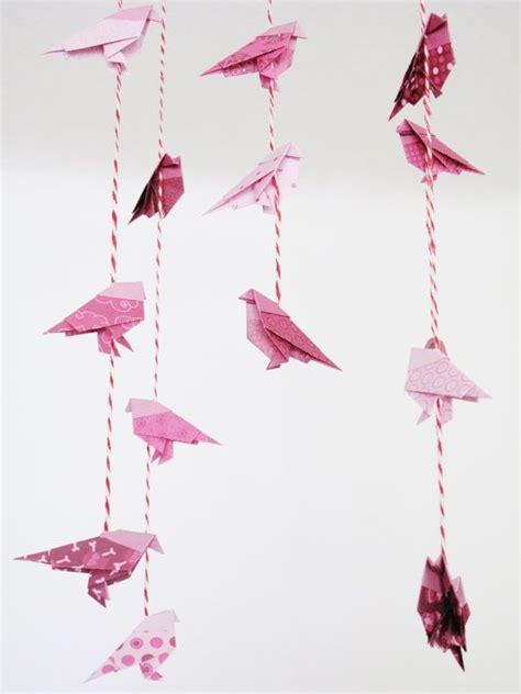 origami bird mobile pink origami bird mobile crafting quilling origami