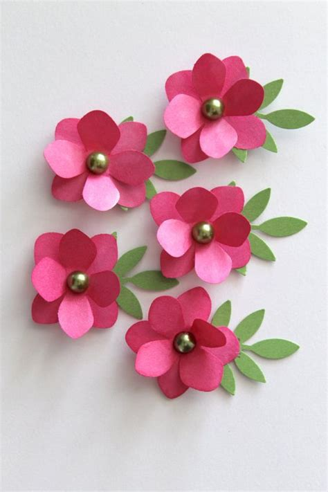 how to make a paper flower card diy handmade pink paper flowers make your own