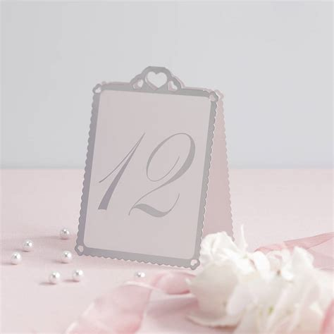 how to make table number cards wedding table number tent cards by