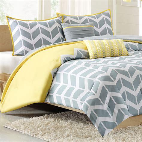 comforter set chevron yellow free shipping
