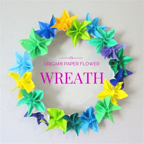 how to make a origami wreath how to make a wreath using origami flowers