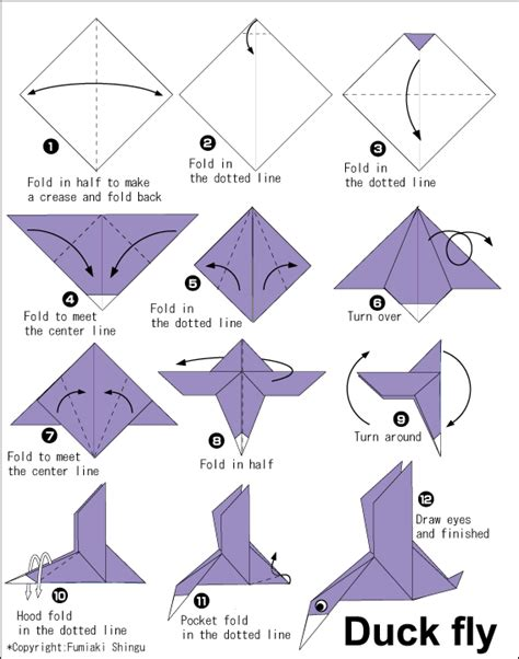 how to make duck origami duck fly easy origami for