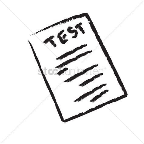 A test paper Vector Image - 1241562 | StockUnlimited A-test Paper