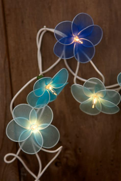 string flower lights flower string lights blue