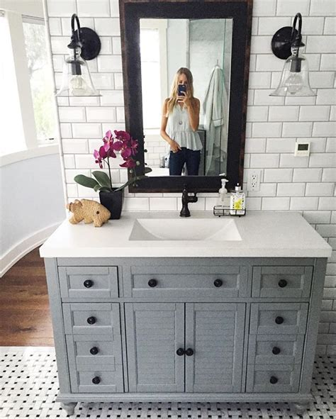 bathroom vanity tile ideas 25 best ideas about gray vanity on grey