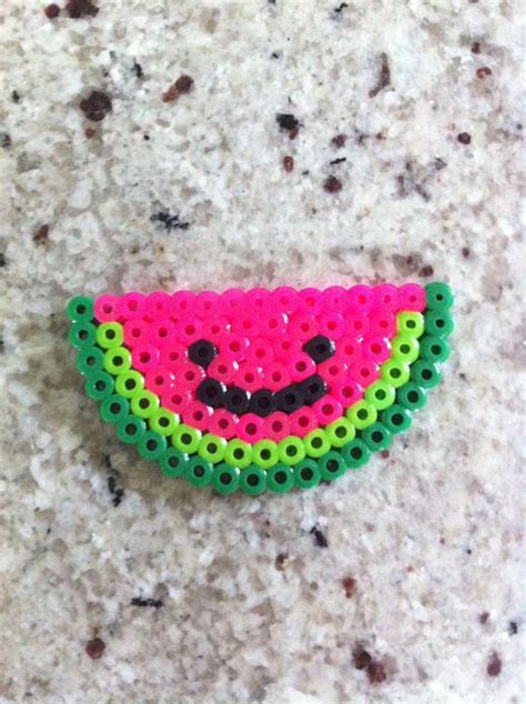 watermelon perler perler watermelon and happy on