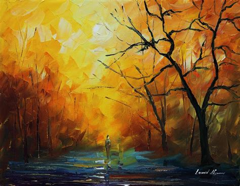 acrylic painting palette knife yellow fog 2 palette knife painting on canvas by