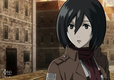 mikasa ackerman mikasa ackerman by oni demone on deviantart