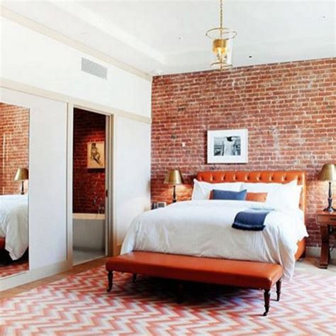 exposed brick bedroom 40 stunning spaces with exposed brick photos drool