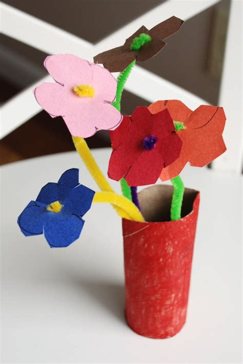 easy paper flower crafts for easy crafts construction paper