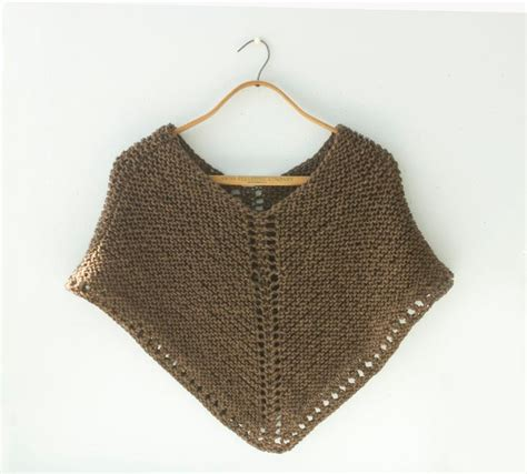 how to knit a poncho for beginners pattern easy knit poncho by black iris craftsy