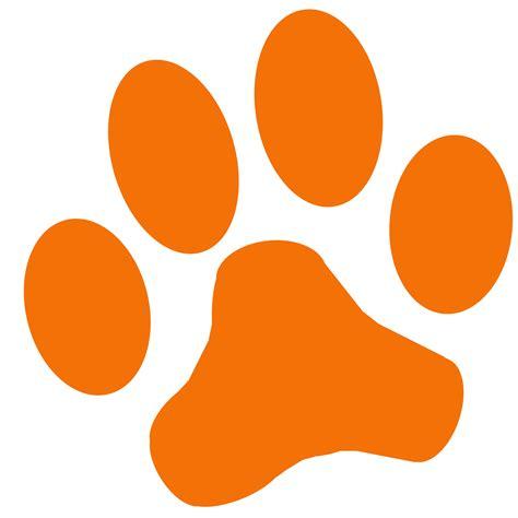 paw print orange paw print clipart best