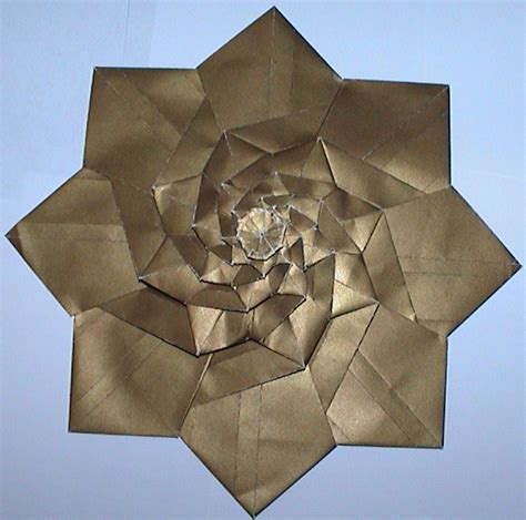 origami flower tower andy s tessellation page