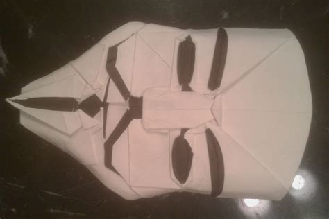 origami fawkes mask fawkes mask in origami