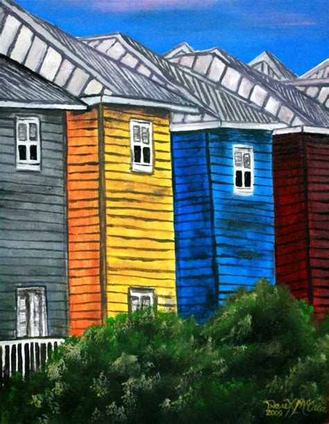 acrylic house paint on canvas watercolor paintings by derek mccrea houses