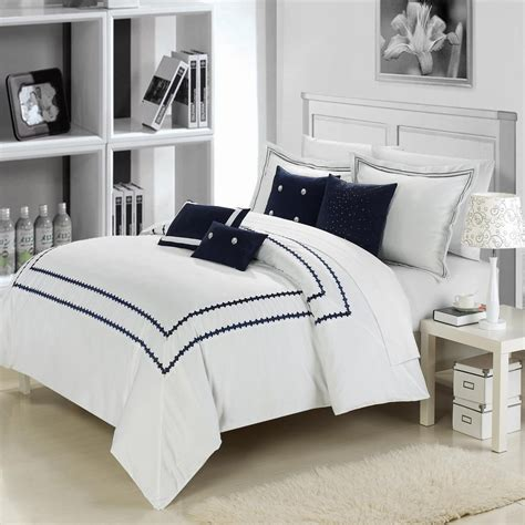 light blue and white comforter set total fab navy blue and white comforter and bedding sets