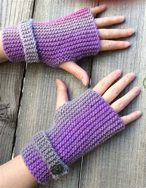 knit garter stitch easy mitts knit flat knitting patterns in the loop knitting