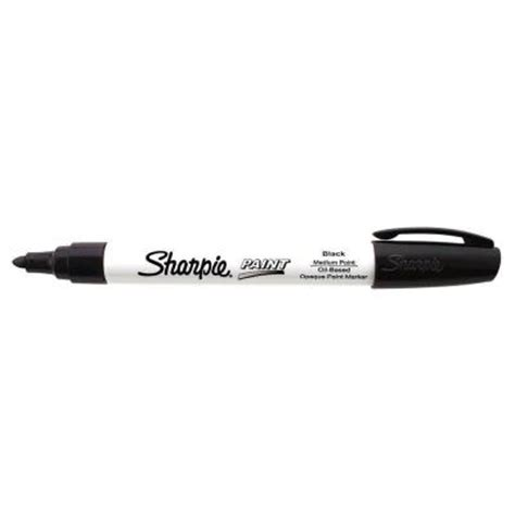 home depot paint pen sharpie black medium point based paint marker 35549