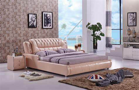 leather bedroom furniture the modern designer leather soft bed large