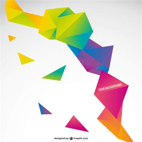 origami graphic design origami colorful abstract template vector free