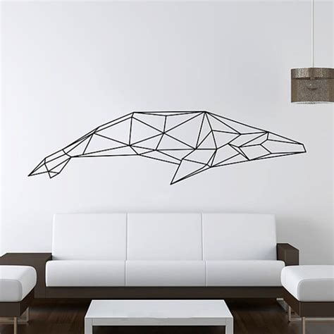 whale wall stickers aliexpress buy 2016 new design geometric whale wall