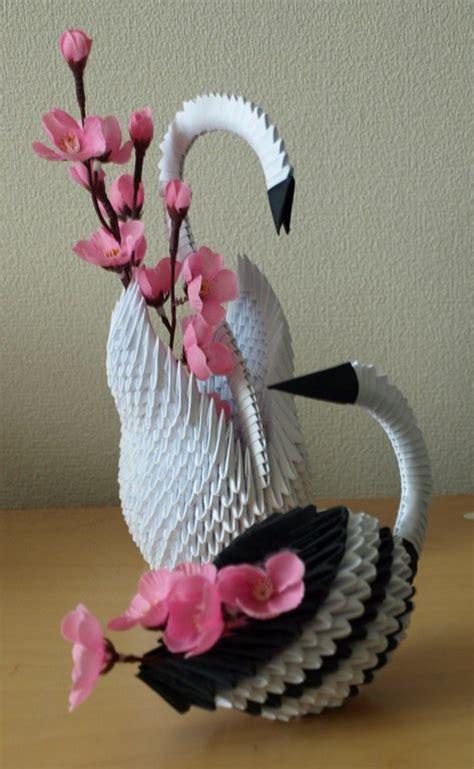 3d origami bird two birds 3d origami by denierim on deviantart