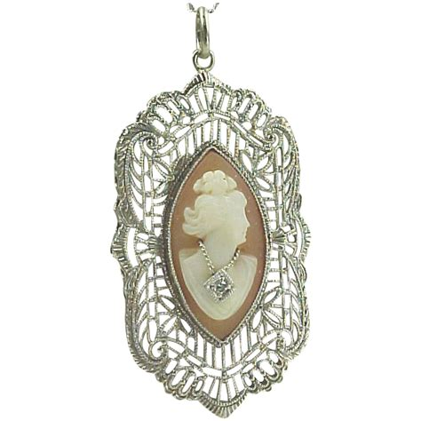 how to make filigree jewelry 14k gold 1920 s filigree carved shell cameo necklace