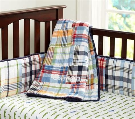 madras crib bedding 1000 images about boy rooms on pottery barn
