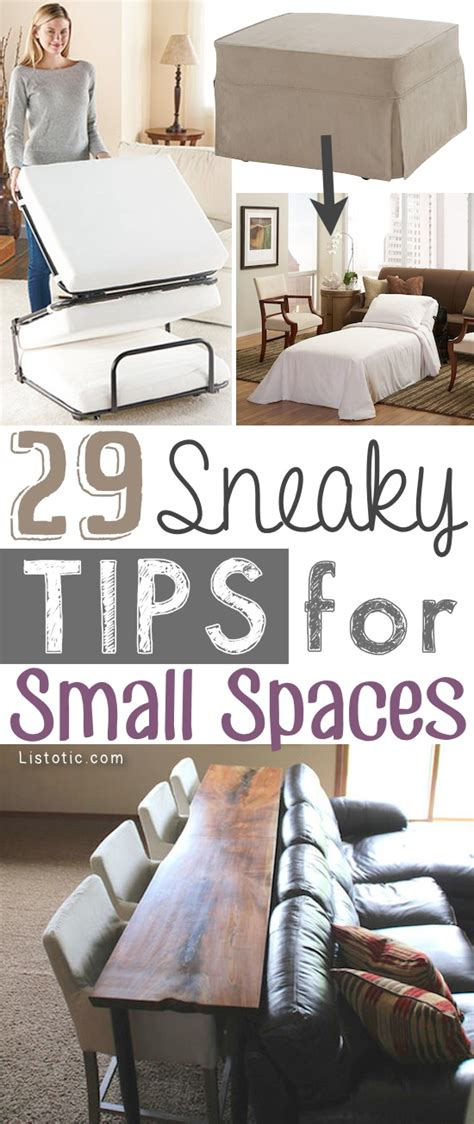 small space living ideas 29 sneaky diy small space storage and organization ideas