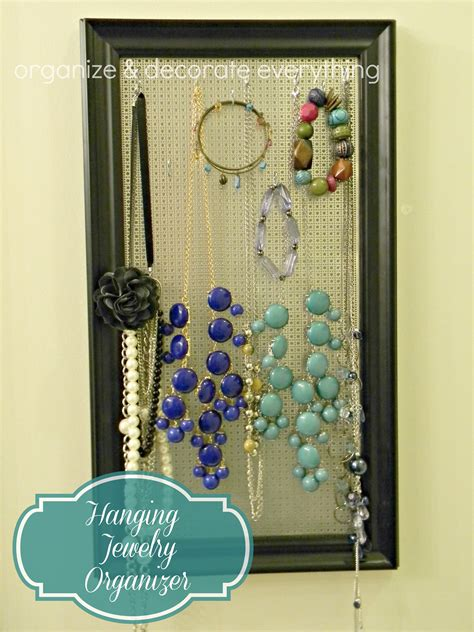 how to make a hanging jewelry organizer hanging jewelry organizer 2 1 organize and decorate