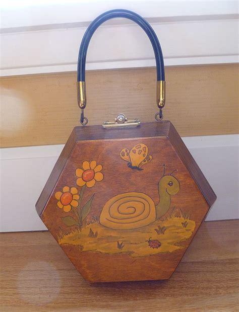 decoupage purse vintage decoupage wooden handbag purse from historique on