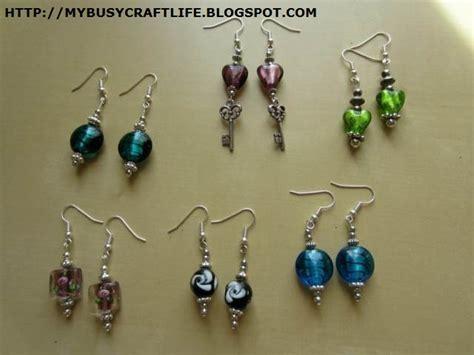 how to make beaded earrings my busy craft beaded earrings