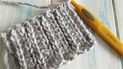 crochet stitch that looks like knit how to crochet looks like knitting with half