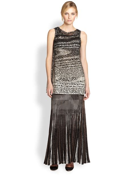 black knit maxi skirt missoni lurex knit pleated maxi skirt in black black