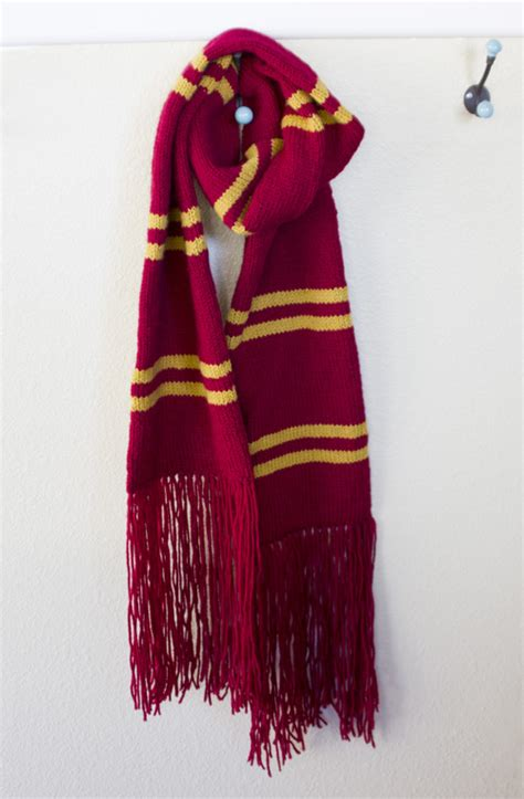 harry potter scarves knitting patterns gallery for gt gryffindor scarf pattern knit