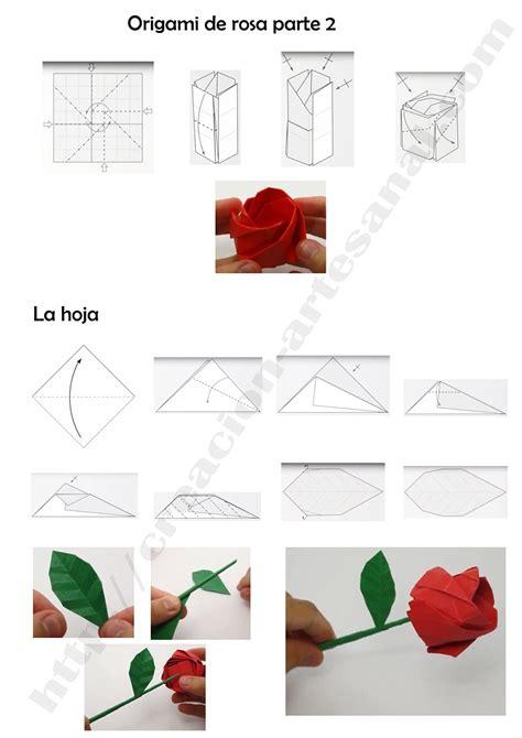 rosa de origami como hacer una rosa de origami paso a paso rosas de
