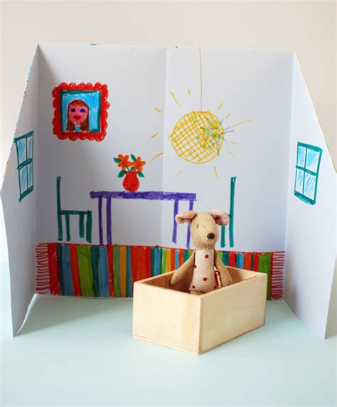 house craft for make an adorable origami doll house