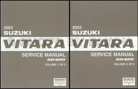service manual 2003 suzuki xl 7 service manual free 2001 2002 2003 2004 2005 2006 suzuki 2003 suzuki grand vitara xl 7 repair shop manual set original