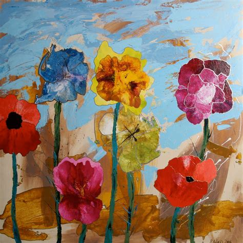 acrylic painting flowers canvas acrylic paintings by wiese flower paintings