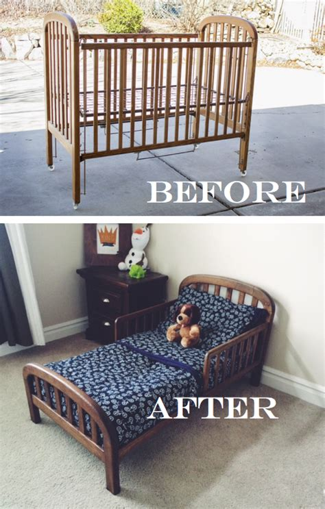 how to change a crib into a toddler bed do it yourself divas diy crib into toddler bed