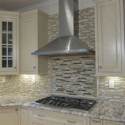 traditional kitchen with glass panel by